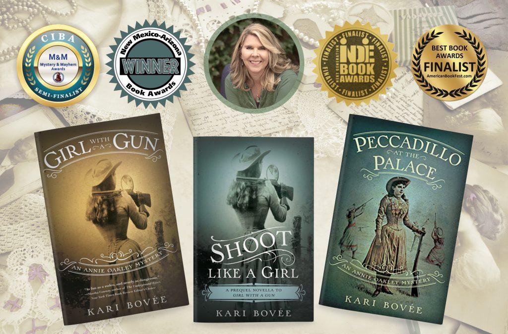 Annie Oakley Mystery Series Kari Bovee Author HIstorical Fiction Books Mystery