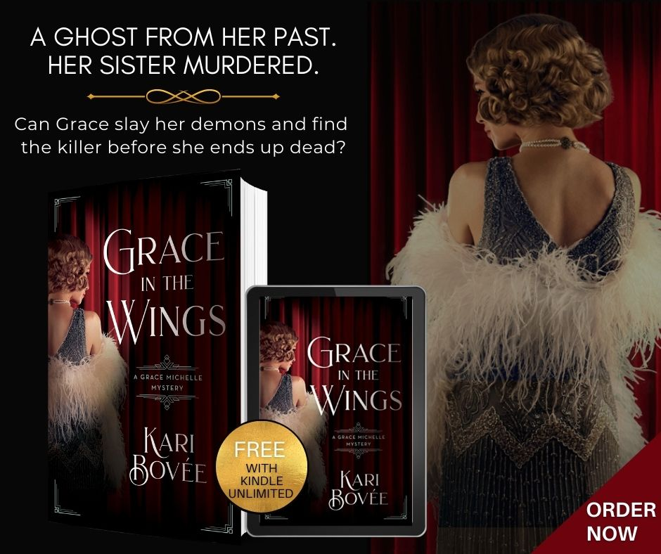 historical mystery series grace michelle grace in the wings Kari Bovee historical fiction broadway theater mystery history female lead