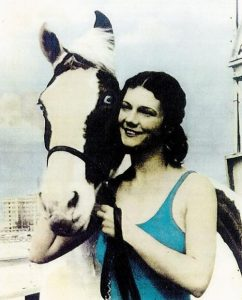 Photo of Sonora Webster Carver and her horse